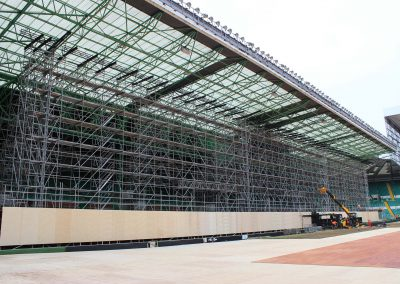 Layher Scaffolding system helps to bring the games to the screen