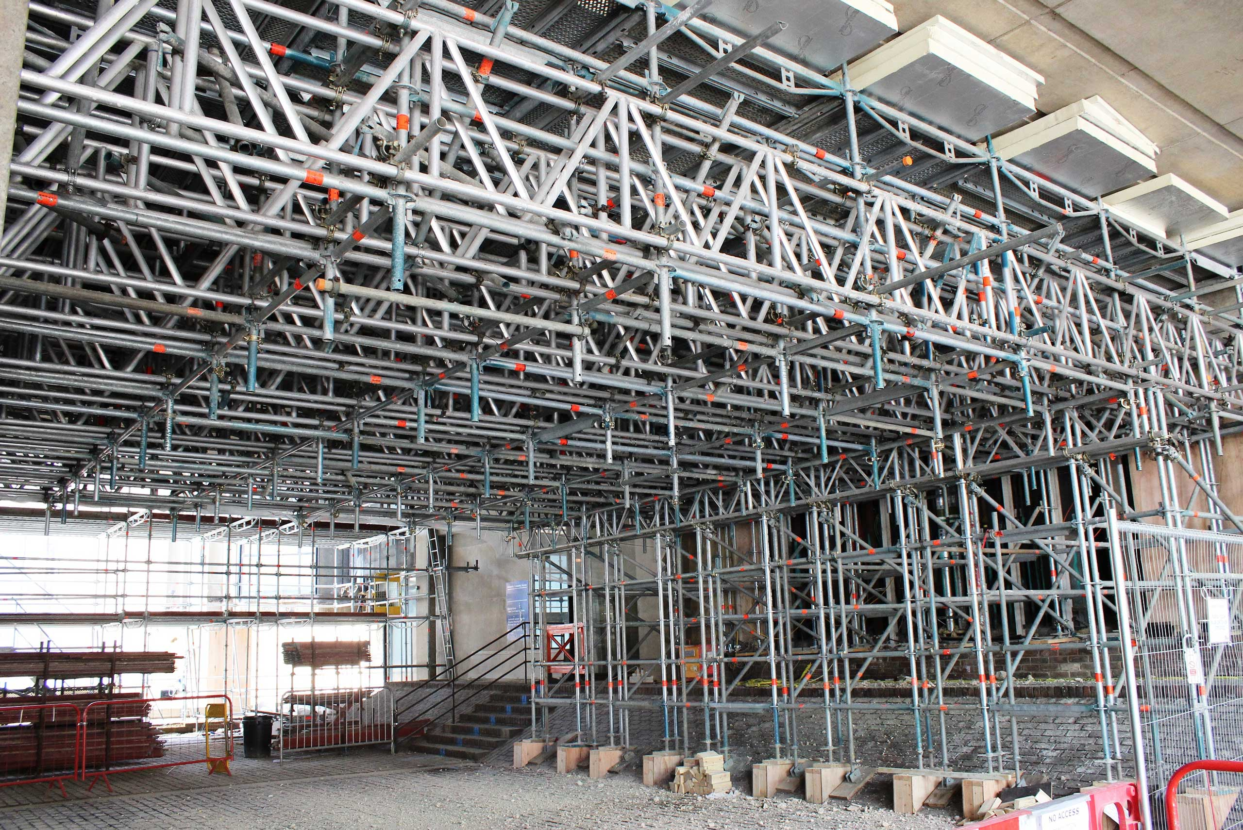 Layher Scaffolding And Roofing Systems Central To Iconic