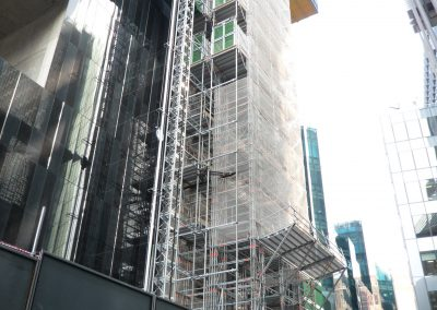 Delivering men and materials-the rising Heron Building gains from Layher's 'highest' freestanding hoist tower scaffold