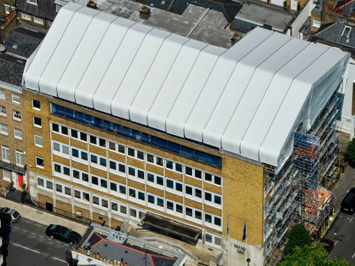 Layher Temporary Roofing system helps to optimise London Embassy refurbishment