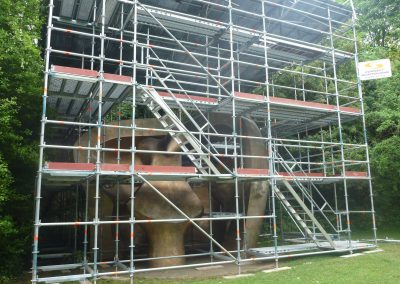 Layher Allround helps Connect Scaffolding reach every face