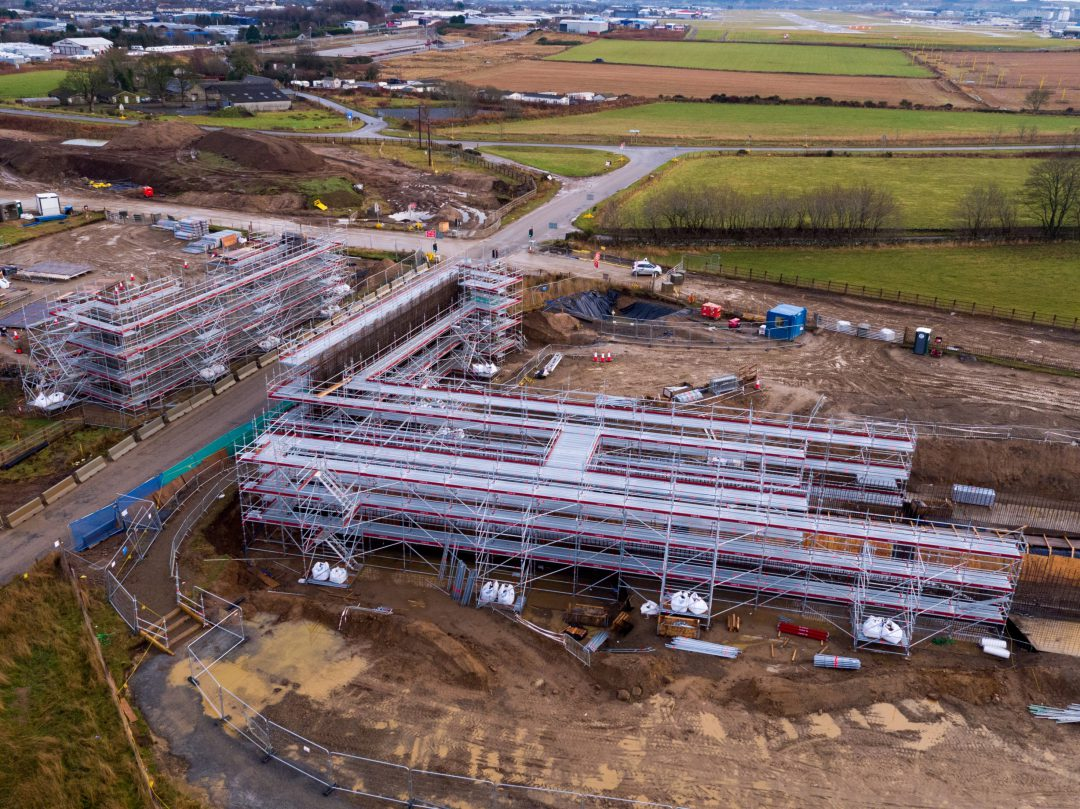 Layher scaffolding capability drives ahead on new bypass construction